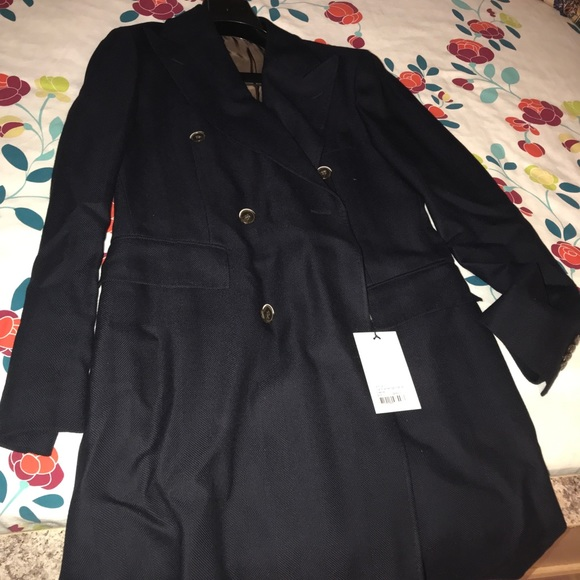 NWT SuitSupply Double Breasted Coat - Size 38R NWT